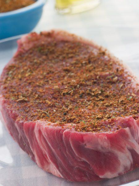 Sirloin Steak with Coffee rub