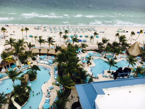 View from my balcony at Margaritaville