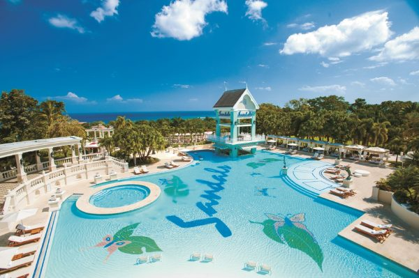 Just ONE of the 105 pools and hot tubs (and a beach of course) at Sandals Ochi Beach