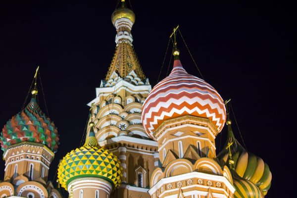 St Basil's Cathedral at nighttime