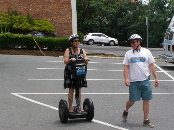 Getting ready to explore Winston-Salem by Segway