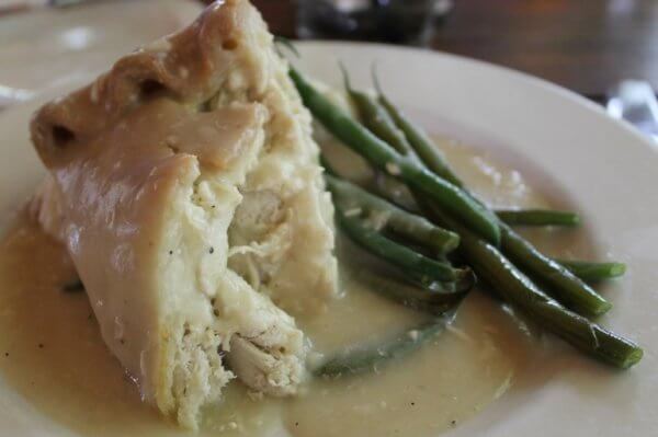 Make sure to try the Moravian Chicken Pie at the Tavern in Old Salem