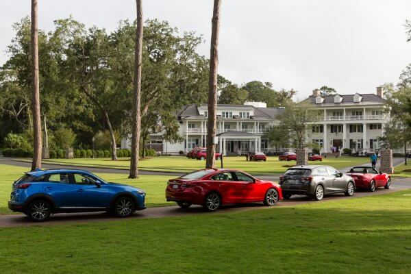 Mazda USA Active Lifestyle Drive Program at Montage Palmetto Bluff, In Bluffton, SC.   Participants test drove cars between Montage Palmetto Bluff and Sea Pines Resort, in Hilton Head Island, SC.  At Sea Pines, participants kayaked and explored on bikes. © Tim Zielenbach for Mazda USA