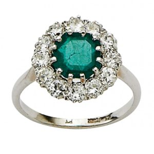 An example of a beautiful antique engagement ring for sale at Susannah Lovis, London