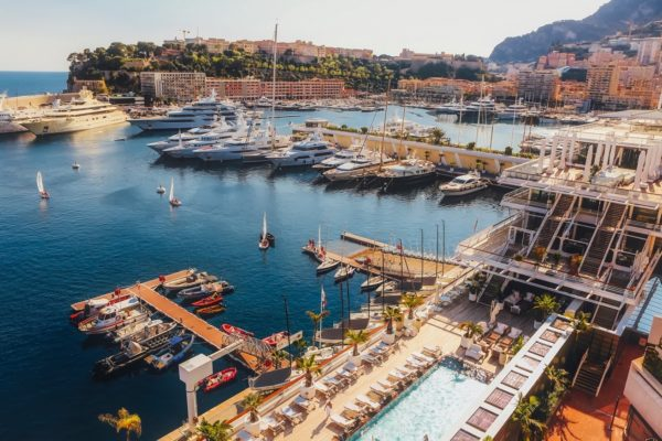 Monaco near luxury villas in South of France