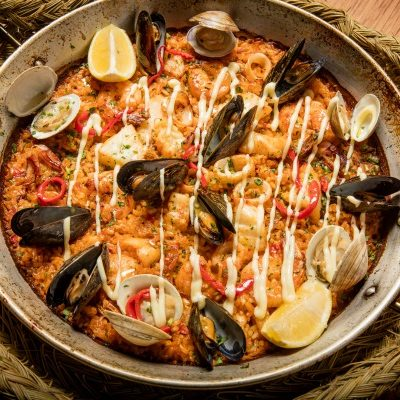We've got JWB's Paella del Mar recipe