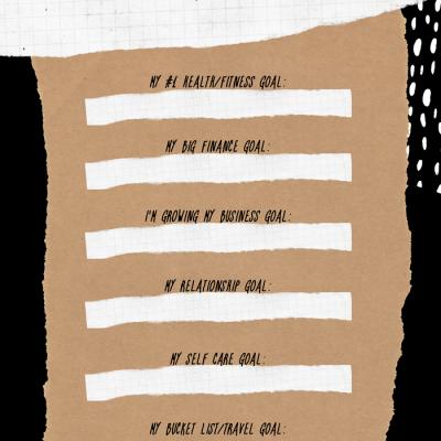 Write down those goals girl!