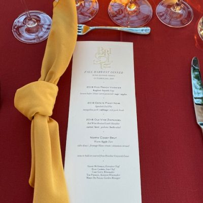A Bricoleur Dining Experience in Sonoma Valley: Because, Sometimes You Have to Get Away!
